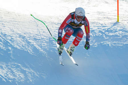 andrew: Val Gardena, Italy 19 December 2015.  Weibrecht Andrew (Usa) competing in the Audi Fis Alpine Skiing World Cup Mens Downhill Race on the Saslong Course in the dolomite mountain rang