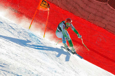gardena: Val Gardena, Italy 19 December 2015.  Sporn Andrej (Slo) competing in the Audi Fis Alpine Skiing World Cup Mens Downhill Race on the Saslong Course in the dolomite mountain rang