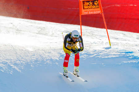 jeffrey: Val Gardena, Italy 19 December 2015. FRISCH Jeffrey (Can) competing in the Audi Fis Alpine Skiing World Cup Mens Downhill Race on the Saslong Course in the dolomite mountain rang