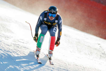 henri: Val Gardena, Italy 19 December 2015.  Battilani Henri (Ita) competing in the Audi Fis Alpine Skiing World Cup Mens Downhill Race on the Saslong Course in the dolomite mountain rang