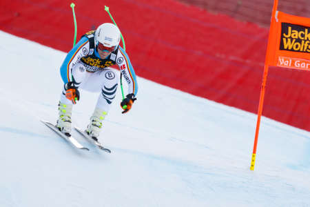 josef: Val Gardena, Italy 19 December 2015.  Ferstl Josef (Ger) competing in the Audi Fis Alpine Skiing World Cup Mens Downhill Race on the Saslong Course in the dolomite mountain rang