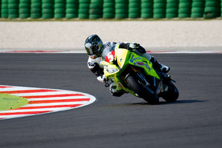 tr: Misano Adriatico, Italy - June 20, 2015: BMW S1000 RR of Tr Corse Team, driven by DUWELZ Gauthier in action during the Superstock 1000 Free Practice 3 during the FIM Superstock 1000 - race at Misano World Circuit on June 20, 2015 in Misano Adriatico, Ital