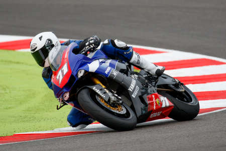 adriatico: Misano Adriatico, Italy - June 20, 2015: Yamaha YZF R1 of MG Competition Team, driven by BERGMAN Christoffer in action during the Superstock 1000 Qualifying during the FIM Superstock 1000 - race at Misano World Circuit on June 20, 2015 in Misano Adriatico