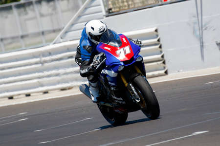 adriatico: Misano Adriatico, Italy - June 21, 2015: Yamaha YZF R1 of MG Competition Team, driven by BERGMAN Christoffer in action during the Superstock 1000 Race during the FIM Superstock 1000 - race at Misano World Circuit on June 21, 2015 in Misano Adriatico, Ital