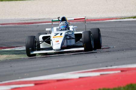 powered: Misano Adriatico, Italy - April 10, 2016: A Tatuus F4 T014 Abarth of Teramo Racing Team, driven by Ponzio Riccardo,  the Italian F4 Championship Powered by Abarth in Misano World Circuit