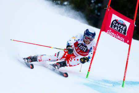 Alta Badia, Italy 20 December 2015.  KRYZL Krystof (Cze) competing in the Audi Fis Alpine Skiing World Cup Men's Giant Slalom on the Gran Risa Course in the dolomite mountain range.