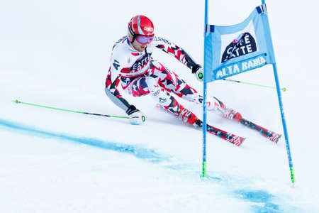 Alta Badia, Italy 20 December 2015.  SCHWARZ Marco (Aut) competing in the Audi Fis Alpine Skiing World Cup Men's Giant Slalom on the Gran Risa Course in the dolomite mountain range.