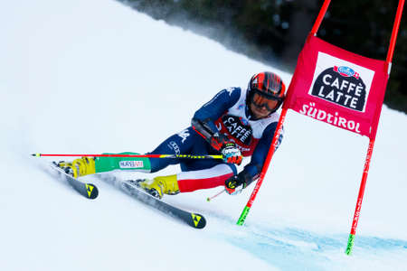 Alta Badia, Italy 20 December 2015.  BALLERIN Andrea (Ita) competing in the Audi Fis Alpine Skiing World Cup Men's Giant Slalom on the Gran Risa Course in the dolomite mountain range.