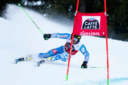 20 s: Alta Badia, Italy 20 December 2015. ZAMPA Andreas (Svk) competing in the Audi Fis Alpine Skiing World Cup Men's Giant Slalom on the Gran Risa Course in the dolomite mountain range.