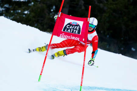 20 s: Alta Badia, Italy 20 December 2015. CHRAPEK Adam (Pol) competing in the Audi Fis Alpine Skiing World Cup Men's Giant Slalom on the Gran Risa Course in the dolomite mountain range.