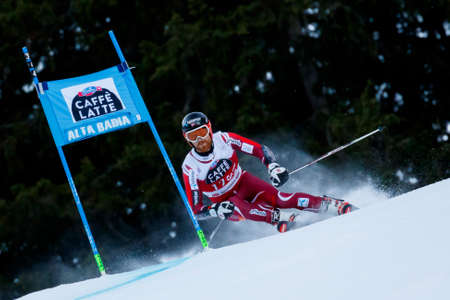 leif: Alta Badia, Italy 20 December 2015.  HAUGEN Leif Kristian (Nor) competing in the Audi Fis Alpine Skiing World Cup Men's Giant Slalom on the Gran Risa Course in the dolomite mountain range. Editorial