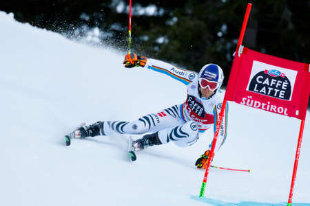 20 s: Alta Badia, Italy 20 December 2015.  DOPFER Fritz (Ger) competing in the Audi Fis Alpine Skiing World Cup Men's Giant Slalom on the Gran Risa Course in the dolomite mountain range.