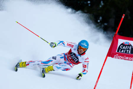 steve: Alta Badia, Italy 20 December 2015.  MISSILLIER Steve (Fra) competing in the Audi Fis Alpine Skiing World Cup Men's Giant Slalom on the Gran Risa Course in the dolomite mountain range. Editorial