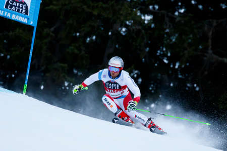 20 s: Alta Badia, Italy 20 December 2015.  PLEISCH Manuel (Sui) competing in the Audi Fis Alpine Skiing World Cup Men's Giant Slalom on the Gran Risa Course in the dolomite mountain range.