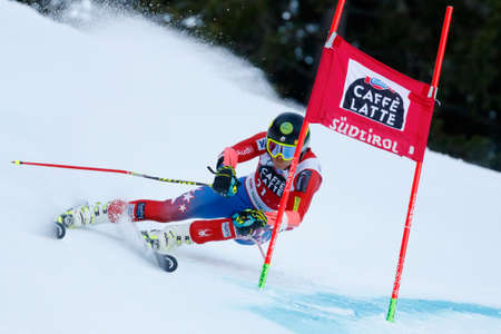 20 s: Alta Badia, Italy 20 December 2015.  FORD Tommy (Usa) competing in the Audi Fis Alpine Skiing World Cup Men's Giant Slalom on the Gran Risa Course in the dolomite mountain range.