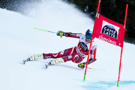 20 s: Alta Badia, Italy 20 December 2015.  WINDINGSTAD Rasmus (Nor) competing in the Audi Fis Alpine Skiing World Cup Men's Giant Slalom on the Gran Risa Course in the dolomite mountain range. Editorial
