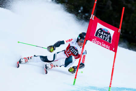 rus: Alta Badia, Italy 20 December 2015.  ANDRIENKO Aleksander (Rus) competing in the Audi Fis Alpine Skiing World Cup Men's Giant Slalom on the Gran Risa Course in the dolomite mountain range.