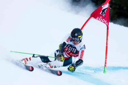 aleksander: Alta Badia, Italy 20 December 2015.  ANDRIENKO Aleksander (Rus) competing in the Audi Fis Alpine Skiing World Cup Men's Giant Slalom on the Gran Risa Course in the dolomite mountain range.