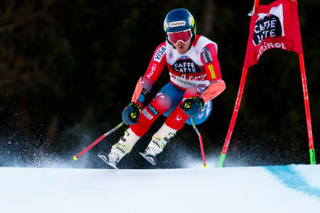 Alta Badia, Italy 20 December 2015. LIGETY Ted (Usa) competing in the Audi Fis Alpine Skiing World Cup Men's Giant Slalom on the Gran Risa Course in the dolomite mountain range. Redakční
