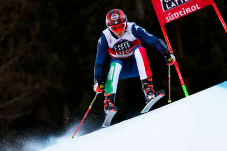 slalom: Alta Badia, Italy 20 December 2015.  EISATH Florian (Ita) competing in the Audi Fis Alpine Skiing World Cup Men's Giant Slalom on the Gran Risa Course in the dolomite mountain range. Editorial