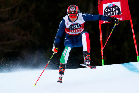 Alta Badia, Italy 20 December 2015.  EISATH Florian (Ita) competing in the Audi Fis Alpine Skiing World Cup Men's Giant Slalom on the Gran Risa Course in the dolomite mountain range. Editorial