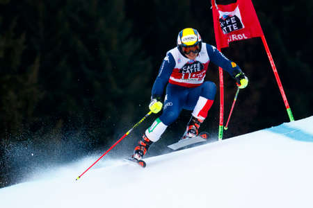 20 s: Alta Badia, Italy 20 December 2015.  NANI Roberto (Ita) competing in the Audi Fis Alpine Skiing World Cup Men's Giant Slalom on the Gran Risa Course in the dolomite mountain range. Editorial