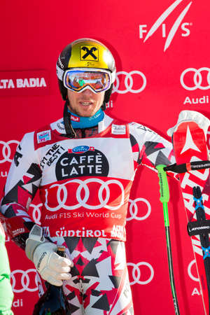 20 s: Alta Badia, Italy 20 December 2015: HIRSCHER Marcel (Aut) takes 1st place during the Audi Fis Alpine Skiing World Cup Men's Giant Slalom Race