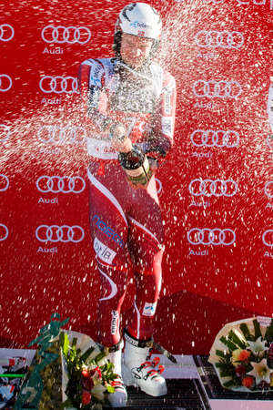 20 s: Alta Badia, Italy 20 December 2015: KRISTOFFERSEN Henrik (Nor) takes 2nd place during the Audi Fis Alpine Skiing World Cup Men's Giant Slalom Race Editorial