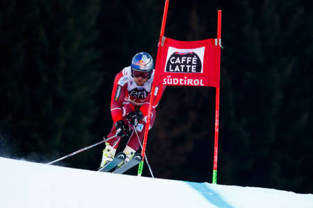 premier: Alta Badia, Italy 20 December 2015.  SVINDAL Aksel Lund (Nor) competing in the Audi Fis Alpine Skiing World Cup Men's Giant Slalom on the Gran Risa Course in the dolomite mountain range. Editorial