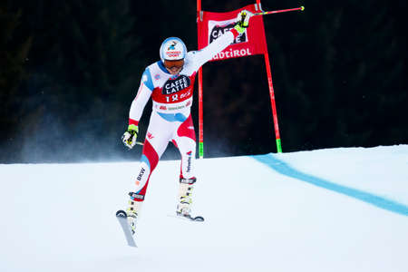 20 s: Alta Badia, Italy 20 December 2015.  CAVIEZEL Gino (Sui) competing in the Audi Fis Alpine Skiing World Cup Men's Giant Slalom on the Gran Risa Course in the dolomite mountain range.