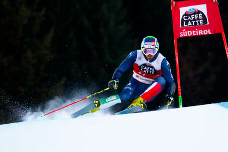 20 s: Alta Badia, Italy 20 December 2015.  MOELGG Manfred (Ita) competing in the Audi Fis Alpine Skiing World Cup Men's Giant Slalom on the Gran Risa Course in the dolomite mountain range. Editorial