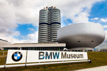 View of the headquarters and the BMW Museum in Munich