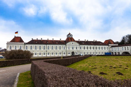 nymphenburg palace: panoramic view of the Nymphenburg Palace in Munich