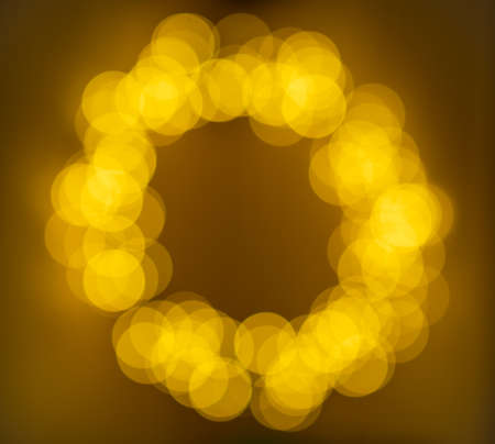 Blurred abstract pattern - circle light photo background. The abstract bokeh background, yellow lights background