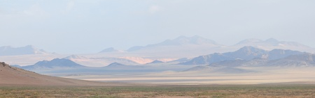 Panorama from four photos of the Namib near Aus, namibia