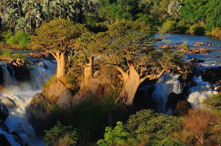 A small portion of the Epupa waterfalls, Namibia Stok Fotoğraf - 12759941