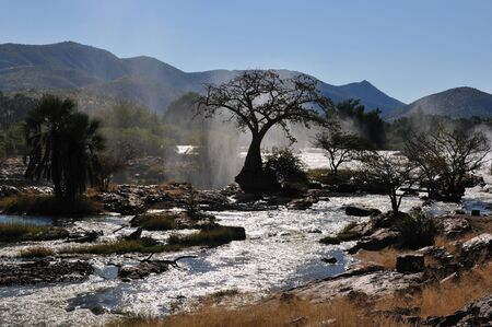A small portion of the Epupa waterfalls, Namibia at sunrise Stock Photo - 12760014