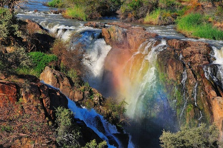 A small portion of the Epupa waterfalls, Namibia at sunset Stock Photo - 12760081