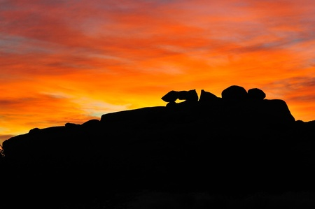 spitzkoppe: A fiery sunset at Spitzkoppe, Namibia