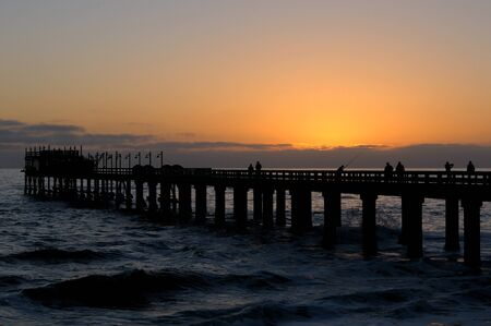 Old historic German jetty in Swakopmund Namibia