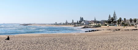 Panorama from three photos of Swakopmund, Namibia