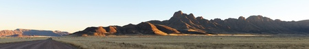 Panorama from five photos of the Namibrand area in Namibia