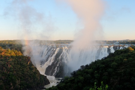 Top of of the Ruacana waterfalls, Namibia at sunrise Stock Photo - 14840767