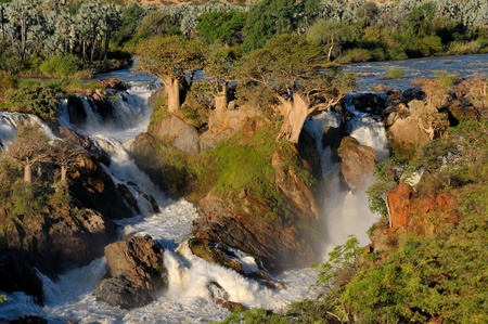 A small portion of the Epupa waterfalls in on the border of Angola and Namibia photo