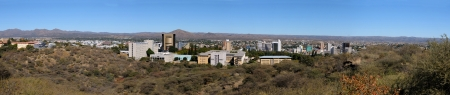 Panorama of Windhoek in Namibia made from four photos
