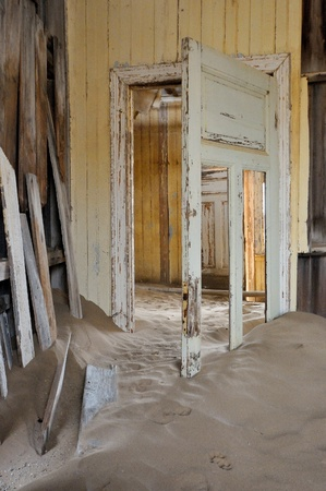 Decaying architecture at Kolmanskop near Luderitz in Namibia