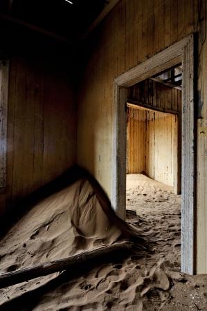 Decaying architecture at Kolmanskop near Luderitz in Namibia