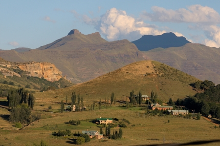 Late afternoon landscape near Clarens, South Africa