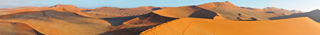 Panorama from seven photos of the dune  landscape north of Sossusvlei