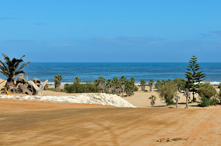 The beach front of Henties Bay in Namibia Stock Photo